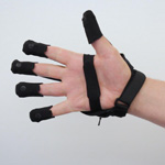 BeBop Sensors Forte Data Glove on Back Hand Photo
