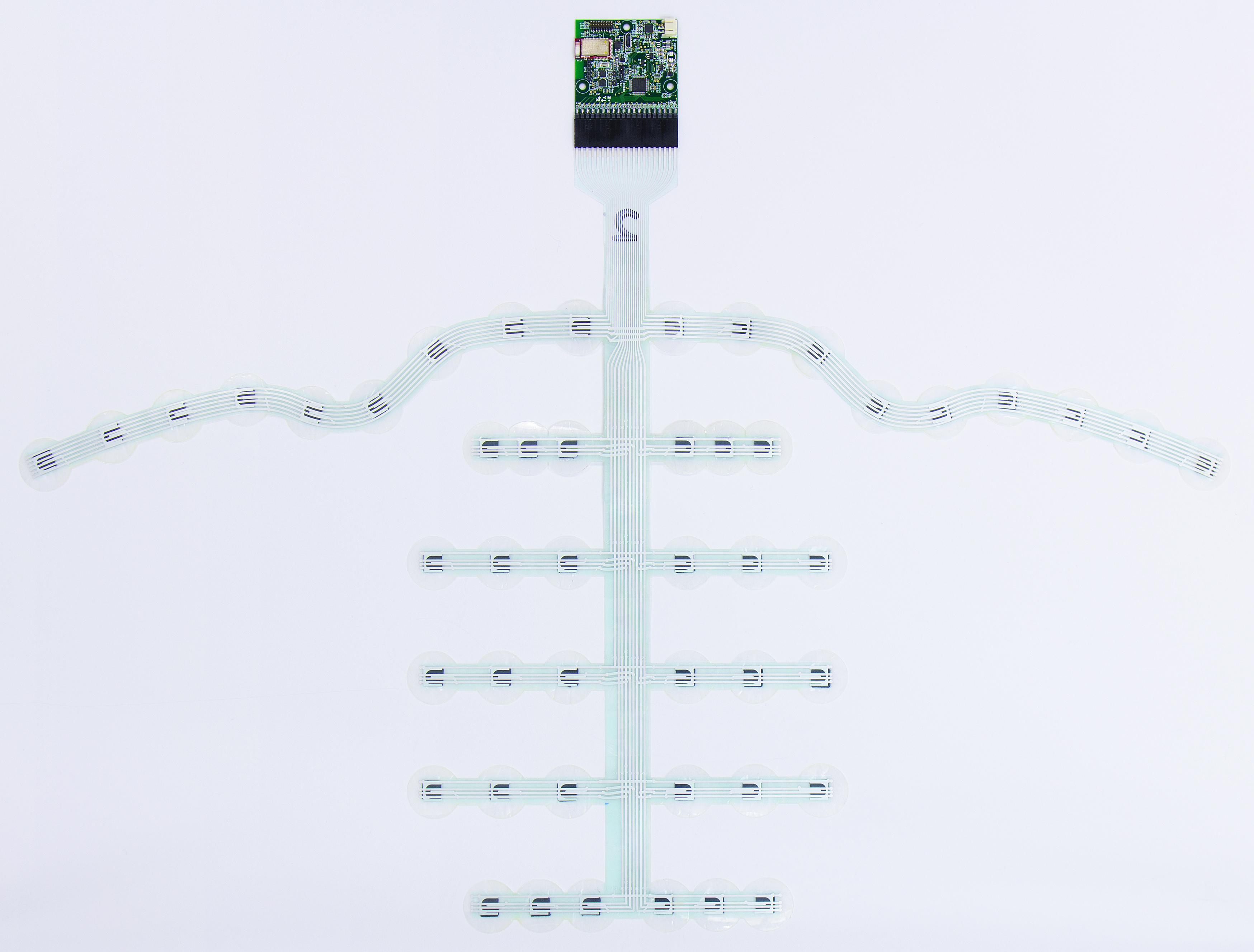 BeBop Sensors Smart Helmet Sensor - side - white background