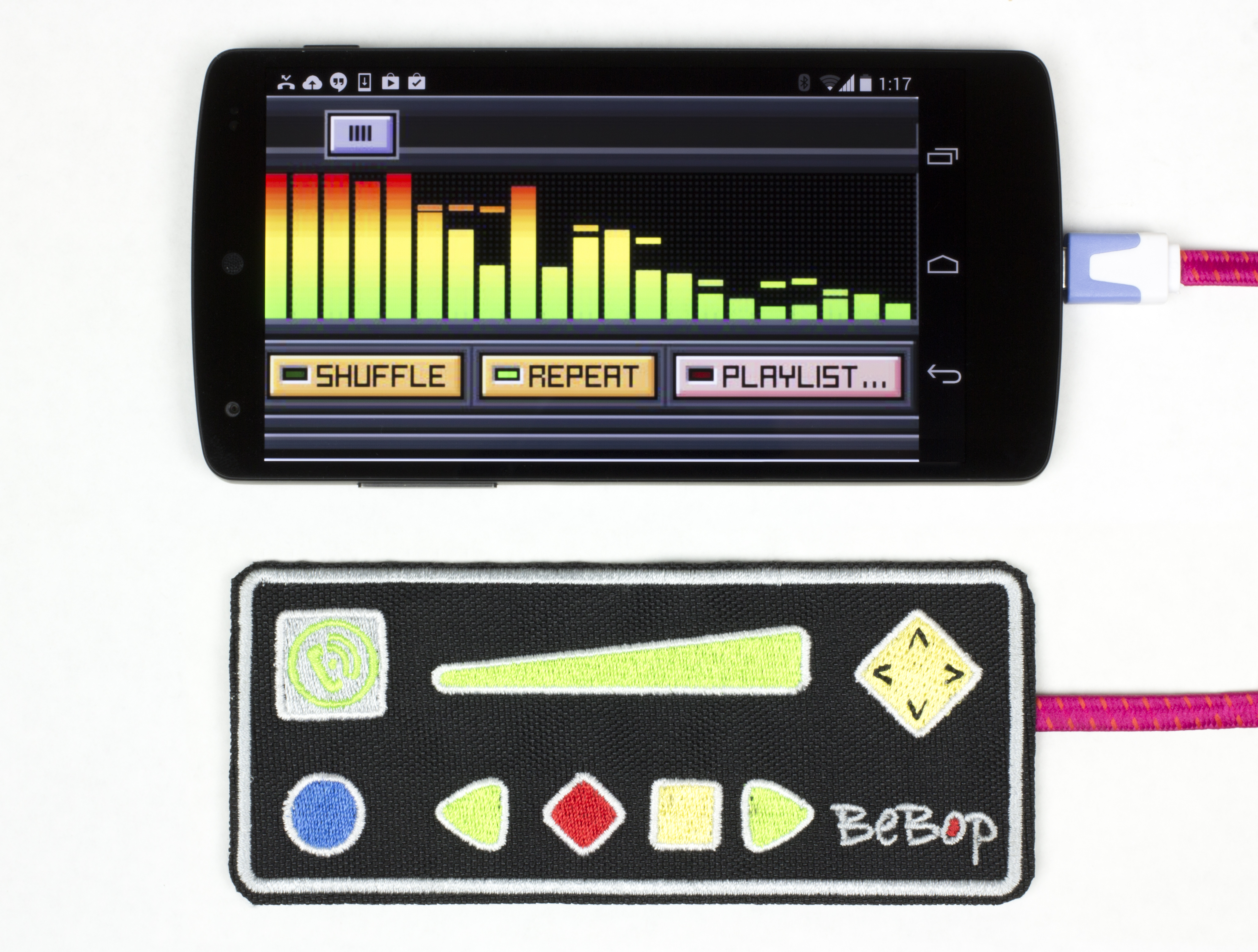 BeBop Wearable Sensor & Controller with Smartphone