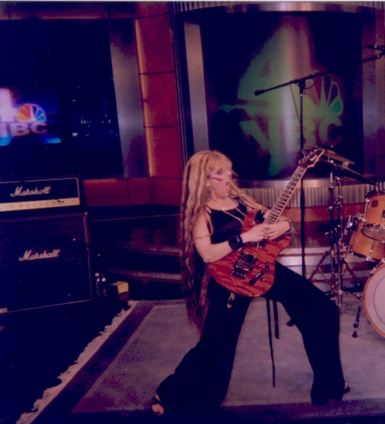 The Great Kat performed guitar live and was interviewed on NBC TV'S Today Show, Weekend Edition!