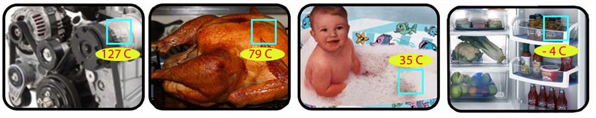 Infrared Thermometer for Smart Phone Technology IR Shots