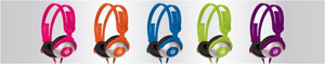 Kidz Gear Wired Headphones - Colors