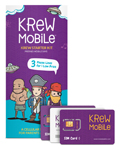 Krew Mobile SIMs with Packaging