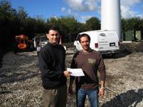 Larry O'Connor at Wind Turbine Site