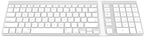 NewerTech Wireless Aluminum Keypad with Apple Keyboard