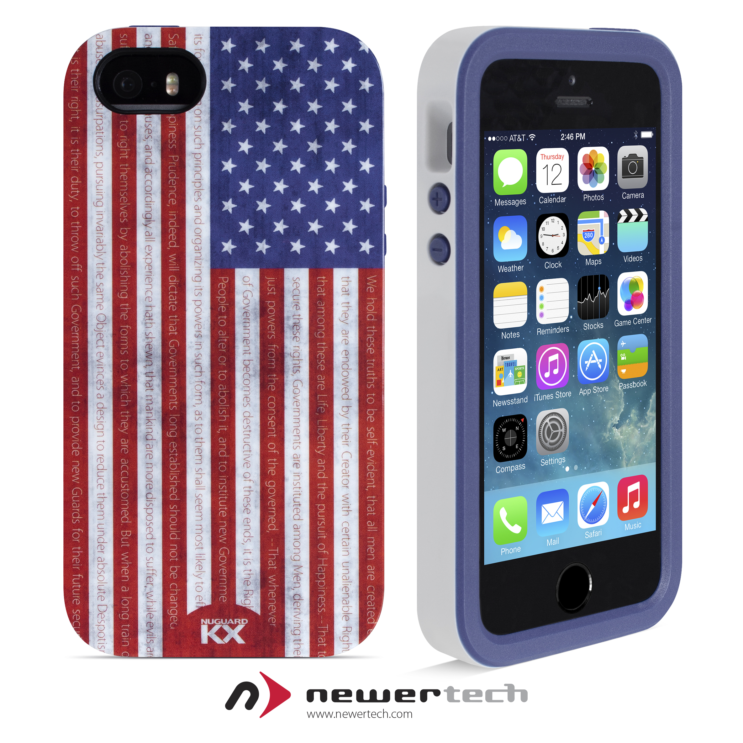 NuGuard KX Case for iPhone 5S - Stars & Stripes