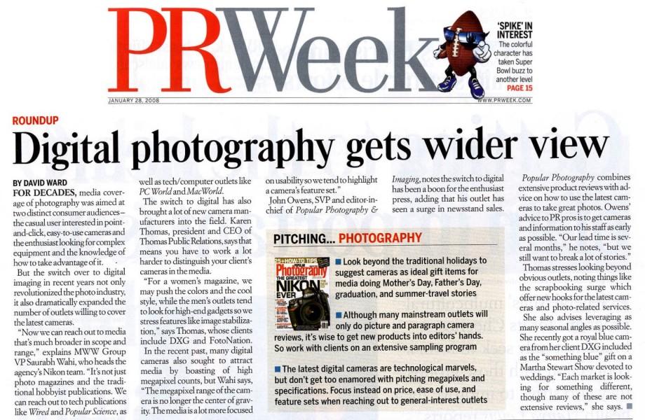 About >> Karen Thomas, Thomas Public Relations, in PR Week January ...