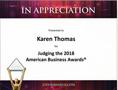 Stevie Awards – American Business Awards Karen Thomas, President, Thomas PR is Judge for Stevie Awards - American Business Awards 2018