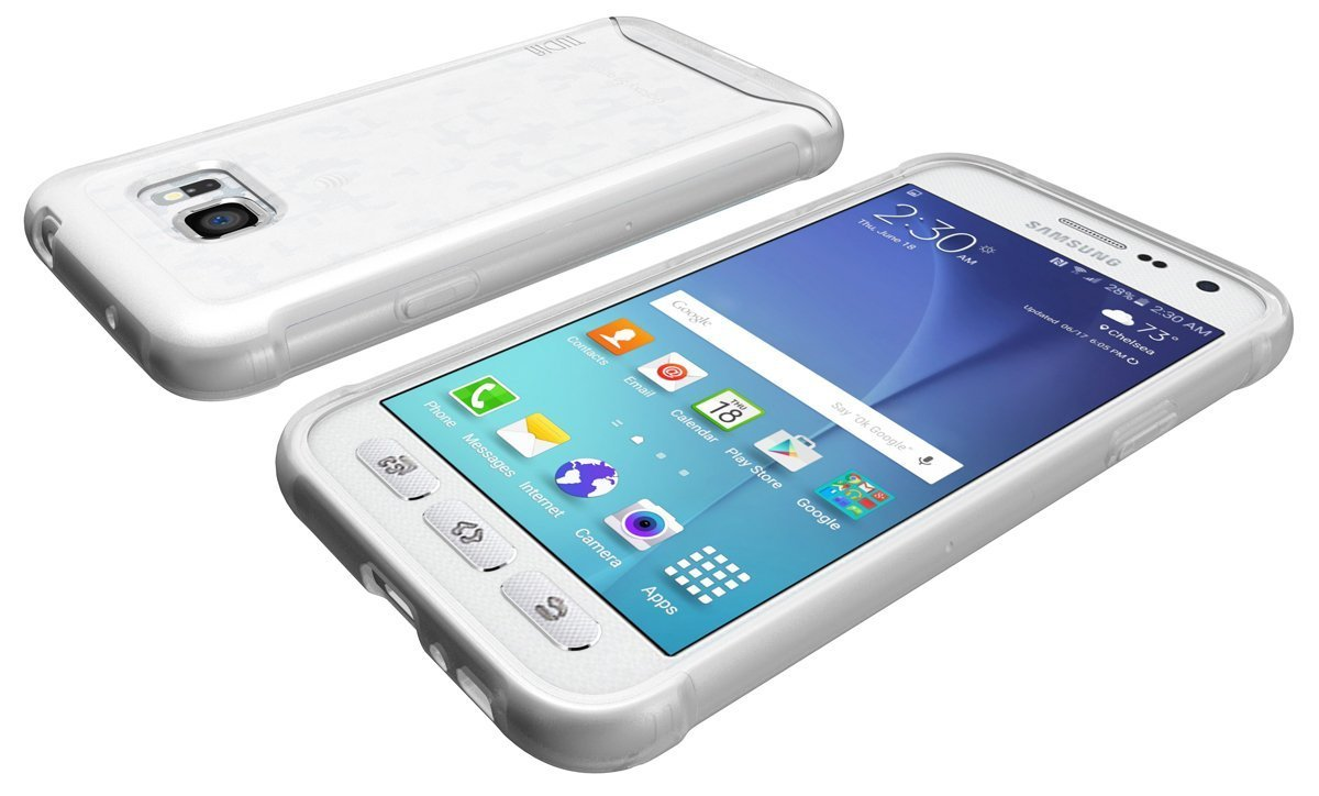 TUDIA ARCH Bumper Protective Case for Samsung Galaxy S7 Active - frosted clear front back.jpg
