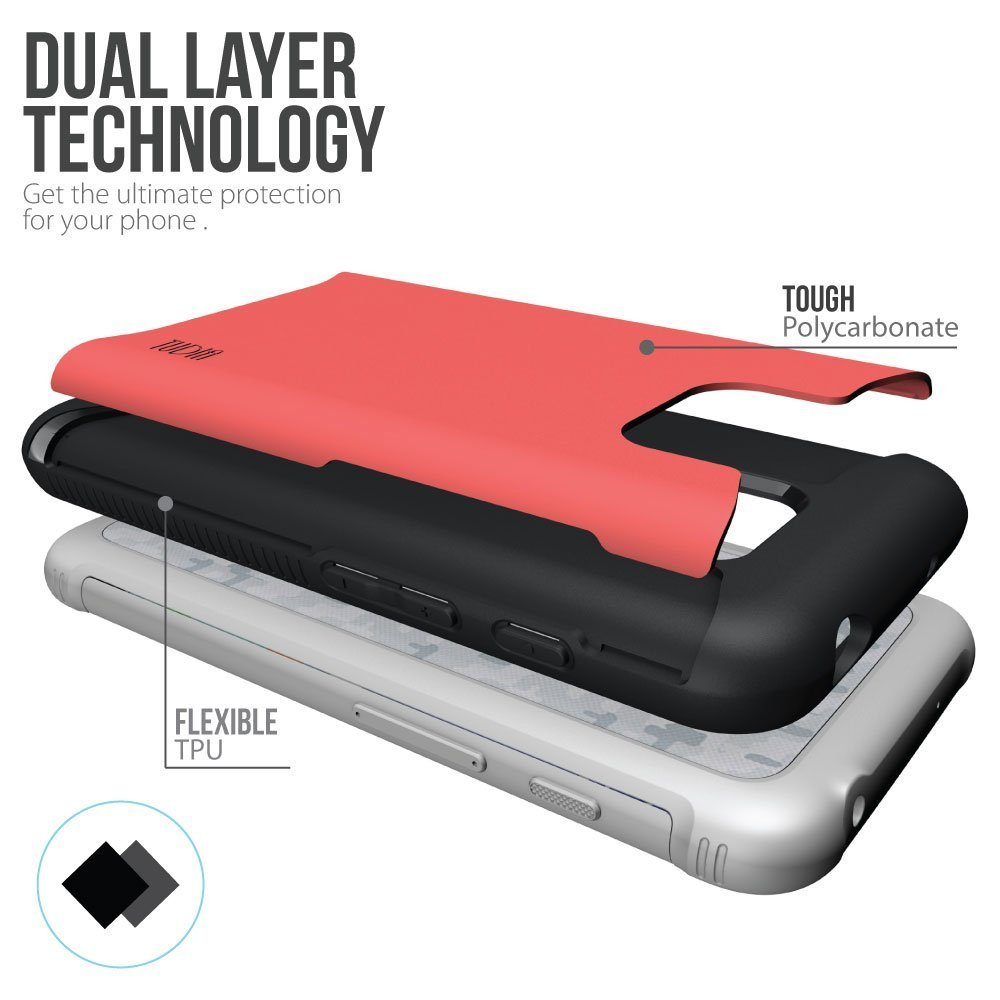 TUDIA MERGE Bumper Protective Case for Samsung Galaxy S7 Active - rose diagram2