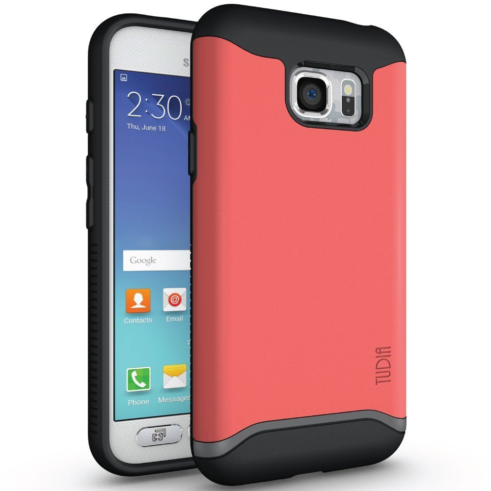 TUDIA MERGE Bumper Protective Case for Samsung Galaxy S7 Active - rose front back