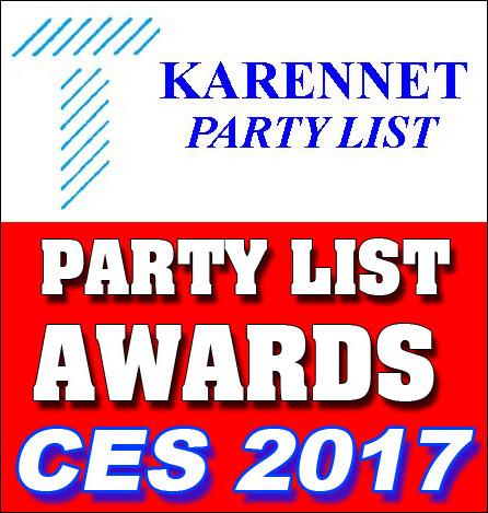 KarenNet Party List Awards CES 2017 Logo