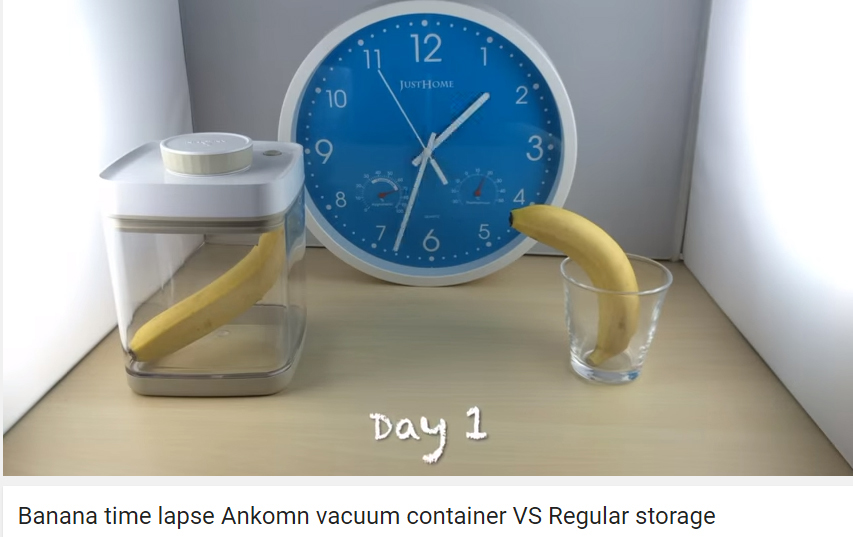 Photo of Video Time Lapse of Banana in Ankomn Savior v Regular Storage - Day 1
