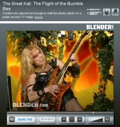 The Great Kat: The Flight Of The Bumble Bee (Music Video) Featured in BLENDER.COM VIDEOS!
