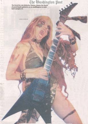 """The Great Kat Interview in The Washington Post - """"No Girls Allowed?"""""""