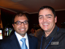 Anand Shipi, AnandTech & Thomas PR Client Andy Paul, Corsair at Corsair Pirate Party