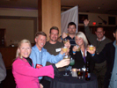 Karen Thomas, Thomas PR, Bob Buskirk, Thinkcomputers.org, Paul Marini, Overclockersclub.com and Friends at Sony Poker Party at the Hard Rock