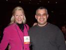 Karen Thomas, Thomas PR & Bob Garza, Infoworld at AVS Forum Party