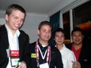 Michael Larabel, Phoronix.com; Jason Jacobs, Techwarelabs.com, David Lin, Phoronix & Ramsom Koay at Futurelooks Party