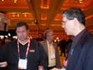 Thomas PR Client Tony Dohrmann, LaserShield & Bill Wong, Electronic Design Demos at Showstoppers