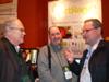 John Dvorak, PCmag.com, Scott Rindenow, CBS-TV & Uwe Maurer, Ambient Design at ArtRage Booth, Showstoppers