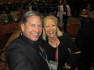 Andrew Ehinger, Channel 12 News and Karen Thomas, Thomas PR at CES Unveiled at Mandalay Bay