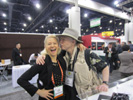 Karen Thomas, Thomas PR and Jack Neubart, Shutterbug at Powerocks� Booth