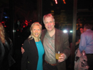 Karen Thomas, Thomas PR and Steve Broback, Parnassus at the Tweethouse Party at the Hyde Club