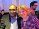 Pallab Chatterjee, M&E Tech/EDN & Lidia Thompson, Infomarket at Lenovo Party
