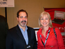 Dan Cassinelli, PPC with Katlean de Monchy, Nextpert News at the PPC booth at Showstoppers