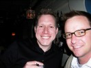 Matt Gillis, Verizon with Bill McLean, E! Networks at the Modtones Party