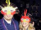 Sean Rosenberg and Karen Try on Masks