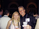 Karen with Neal Dini, Bitstream at Fiercewireless Party Overflowing onto Bourbon St.