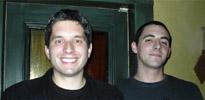 John Biggs and Blake Robinson, CrunchGear at CrunchGear Party