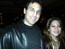 Robert Steir, Mindforce Consulting and Ana Maria Yumiseva, Frecuencia Latinoamerica at CrunchGear Party