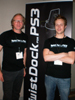 Albert Zeeman and Hendrik Nagel at Vogel's Booth Launching TwistDock at E3