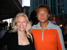 Karen Thomas, Thomas PR and Paul Cha, movie producer at Broadway Bar for  VGChartz Party