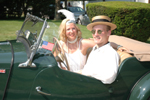 "Karen Thomas ""Daisy"" and Matt Maringola ""Gatsby"" Take the Fateful Ride in the MG"