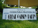 "Thomas PR ""Great Gatsby Party"" Sign"