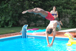 Dual Diving in Pool