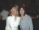 Karen Thomas, Thomas PR and Beth Lasch, F Sharp TV at the Tao Nightclub in the Venetian
