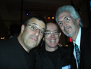 Andy Katz, Photographer, Mark Alberhasky, Photographer and Elmo Sapwater, Photo Imaging News at HP Party