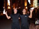 Flair Bartenders Throw Bottles Outside the New York, New York Hotel