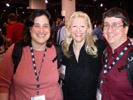 Lori Grunin and Phil Ryan from CNET with Karen Thomas, Thomas PR at Sneak Peek