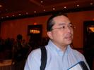 Ed Lee, InfoTrends at Unibind booth at Sneak Peek.