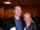 Karen Thomas, Thomas PR & Chad Munce, PMA at I3A Party at the Las Vegas Hilton.