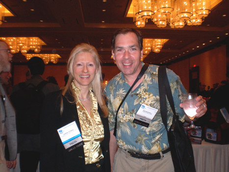 Karen Thomas, Thomas PR & Ken Rockwell, Kenrockwell.com at Sneak Peek event.