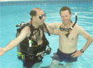 Larry and Bill Jakab Scuba Diving
