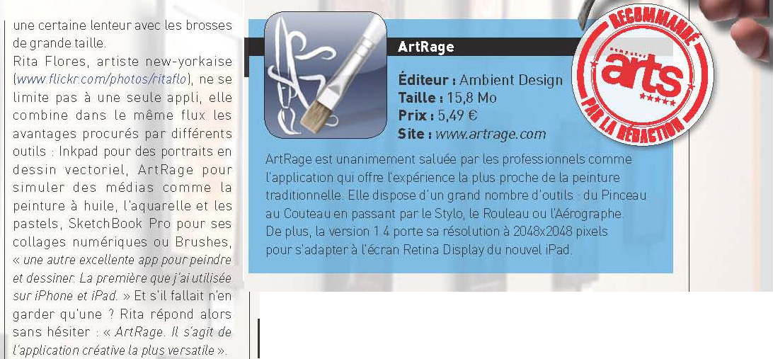 "ArtRage for iPad Wins Computer Arts Magazine ""Editor�s Choice""!"