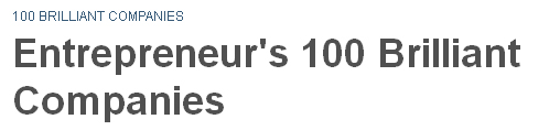 "Entrepreneur Magazine Selects iDevices as one of the ""Top 100 Brilliant Companies of 2014""!"